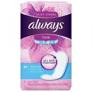 Always Thin Regular Wrap Unscented Pantiliners