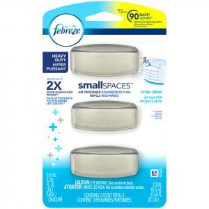 Febreze Smallspaces Heavy Duty Crisp Clean Scent Refills