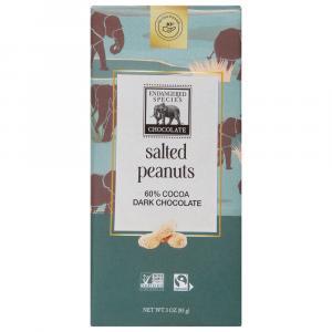 Endangered Species Elephant Dark Chocolate With Peanuts Bar