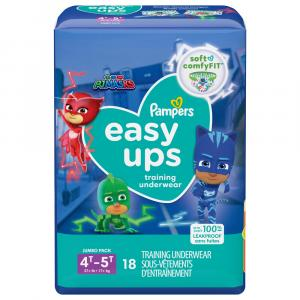 Pampers Easyups Boys 4T-5T Training Underwear