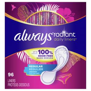 Always Radiant Regular Daily Liners