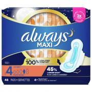 Always Maxi Overnight Size 4 Pads