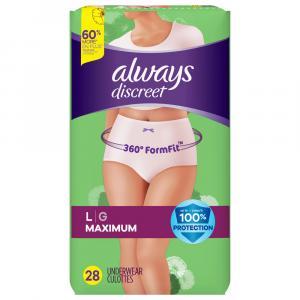 Always Discreet Underwear Maximum Large