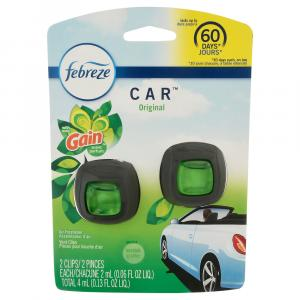 Febreze Car Vent Clip With Gain