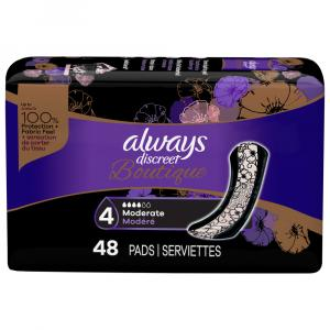 Always Discreet Boutique Moderate Pads