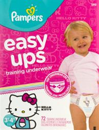 Pampers Easyups Girls 3t-4t