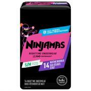 Ninjamas Girls' Nightime Underwear S/M