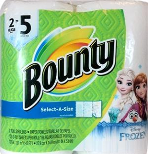 Bounty Frozen Print Select-a-size Paper Towels