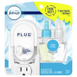 Febreze Plug In Linen & Sky Scented Refill with Warmer