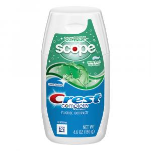 Crest Plus Scope Whitening Gel Toothpaste