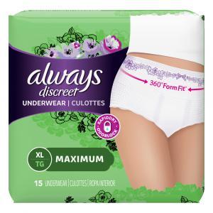 Always Discreet Underwear Maximum Extra-Large