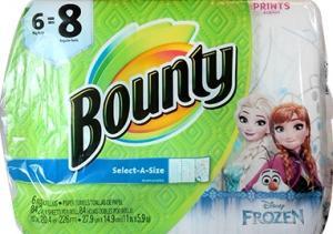 Bounty Big Roll Frozen Print Select-a-size Paper Towel