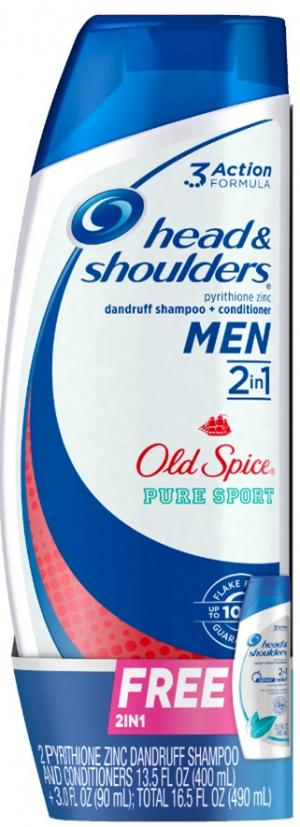 Head & Shoulders Dandruff Shampoo With Old Spice Bonus Pack