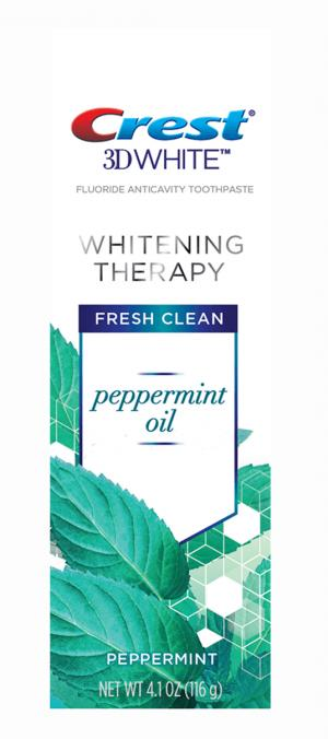 Crest 3D White Whitening Therapy Peppermint Oil Toothpaste
