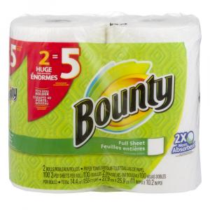 Bounty White Huge Rolls Paper Towels