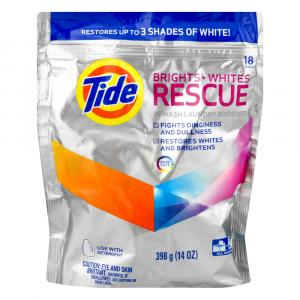 Tide Brights + White Rescue in Wash Laundry Booster Packs