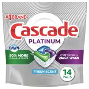 Cascade Platinum Action Pacs Fresh Scent