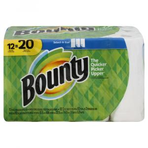 Bounty Select-a-size White Mega Roll Paper Towels