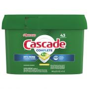 Cascade Complete ActionPacs Dishwasher Detergent Lemon