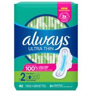 Always Ultra Thin Long Super Maxi Pads