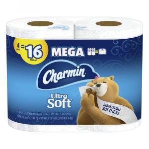 Charmin Ultra Soft Mega Rolls Bathroom Tissue