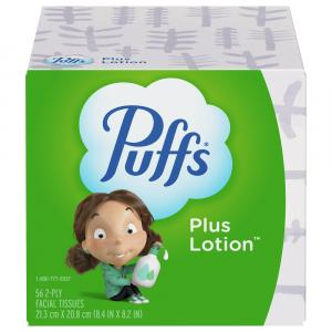Puffs Plus Lotion Cube Facial Tissues