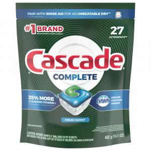 Cascade Complete Action Pacs Fresh Scent