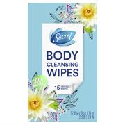 Secret Body Cleansing Wipes Cool Waterlily