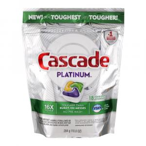 Cascade Platinum Action Pacs Lemon Scent