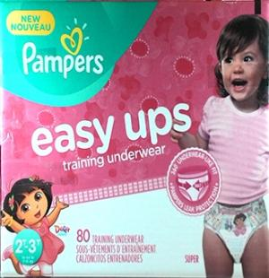Pampers Easyups Girls 2t-3t