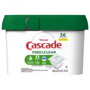 Cascade Free & Clear Lemon Essence Dishwasher Detergent