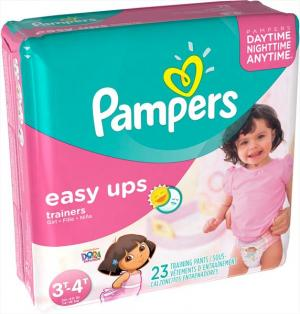 Pampers Easy Ups Girl's Training Pants Size 5