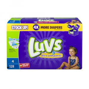 Luvs Ultra Leakguard Size 4 Value Pack