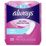 Always Thin Regular Wrap Unscented Pantiliners