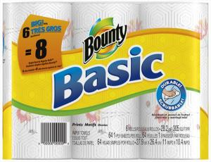 Bounty Basic Big Roll Printed Paper Towels