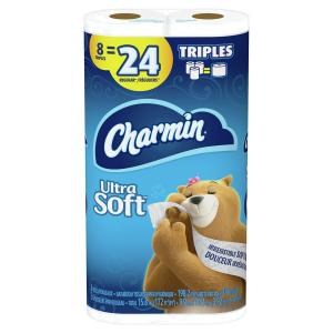 Charmin Ultra Soft Triple Roll Bathroom Tissue