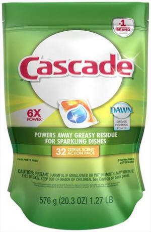 Cascade Citrus Scent Actionpacs Dishwasher Detergent