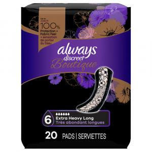 Always Discreet Boutique Extra Heavy Long Pads