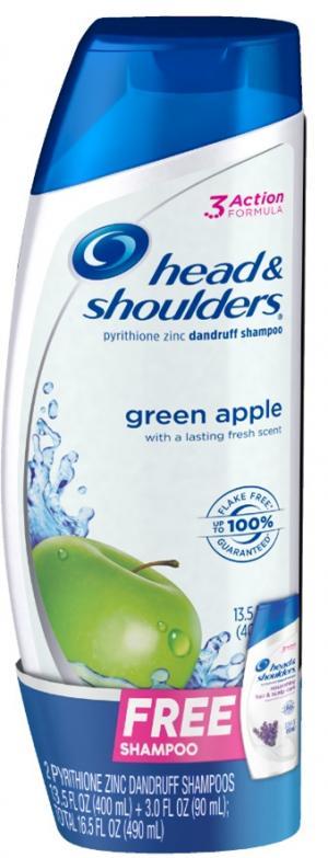 Head And Shoulders Green Apple Shampoo Bonus