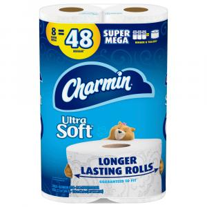 Charmin Ultra Soft Super Mega Rolls