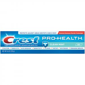 Crest Pro Health Clean Mint Gel Toothpaste