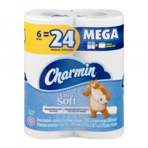 Charmin Ultra Soft Mega Roll Bath Tissue