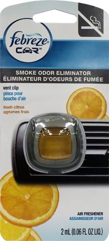 Febreze Car Vent Clip Citrus Smoke Odor Eliminator