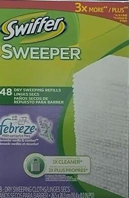 Swiffer Sweeper Lavender Vanilla Dry Cloths Refill