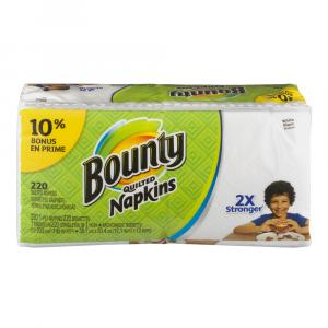 Bounty Quilted White Napkins