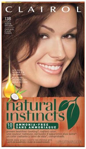 Clairol Natural Instincts 13b Light Warm Brown Hair Color