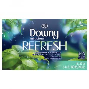 Downy Infusions Refresh Birch Water & Botanicals Dryer Sheet