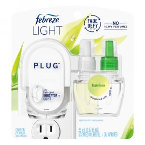 Febreze Light Plug Scented Oil Refill and Warmer Bamboo
