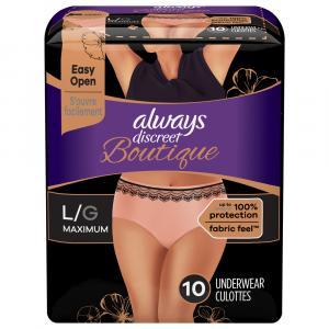 Always Discreet Boutique Maximum Protection Underwear Large