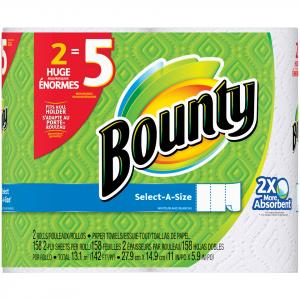Bounty Select-a-size White Huge Rolls Paper Towels